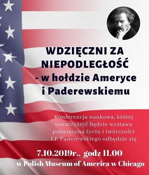 """Konferencja naukowa – """"Wdzięczni za niepodległość w hołdzie Ameryce i Paderewskiemu"""" w MPA"""