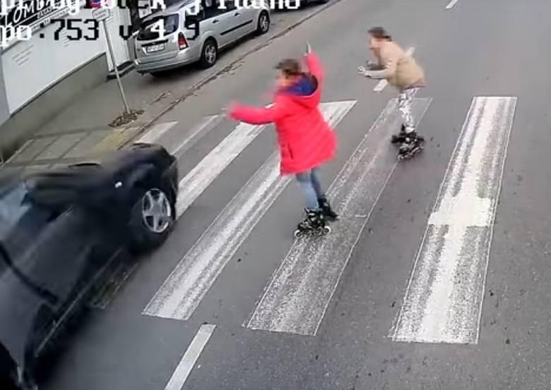 Prawie zabił dwie dziewczynki na przejściu dla pieszych w Płocku! Policja już wie, kto jest kierowcą