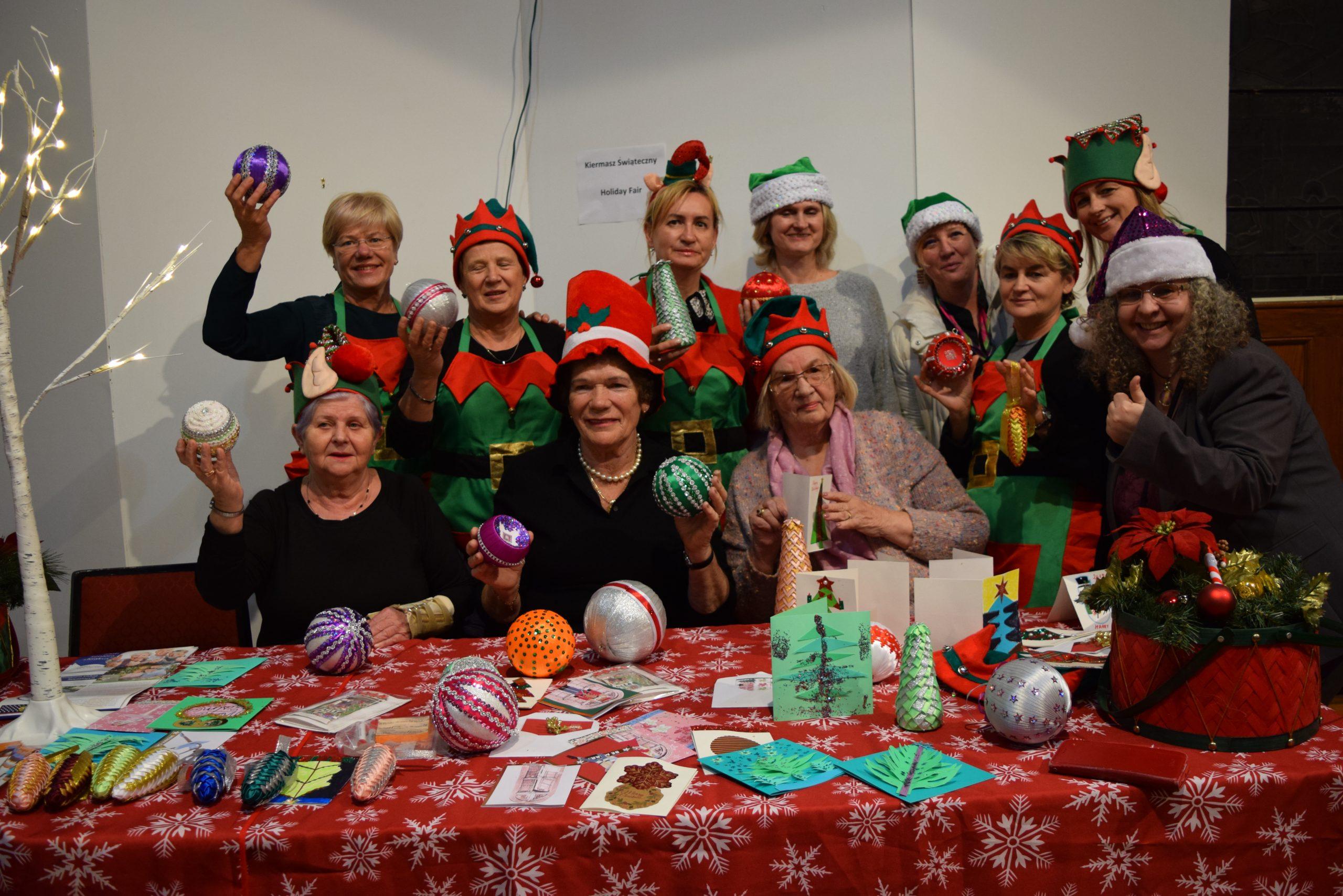 Ozdoby Seniorów na Kiermaszu Świątecznym PSC