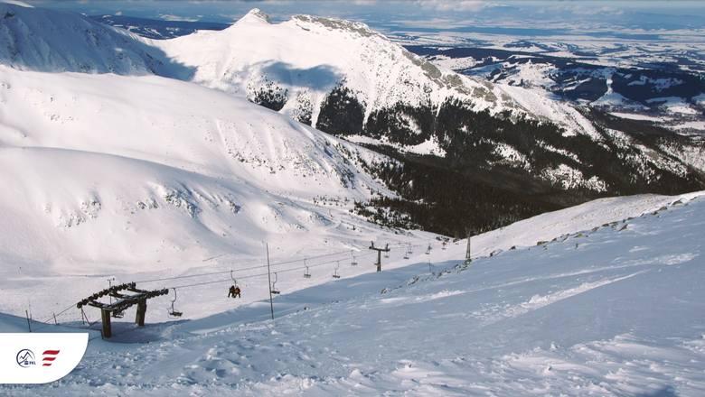 Tatry. Kasprowy Wierch bez sztucznego dośnieżania tras narciarskich