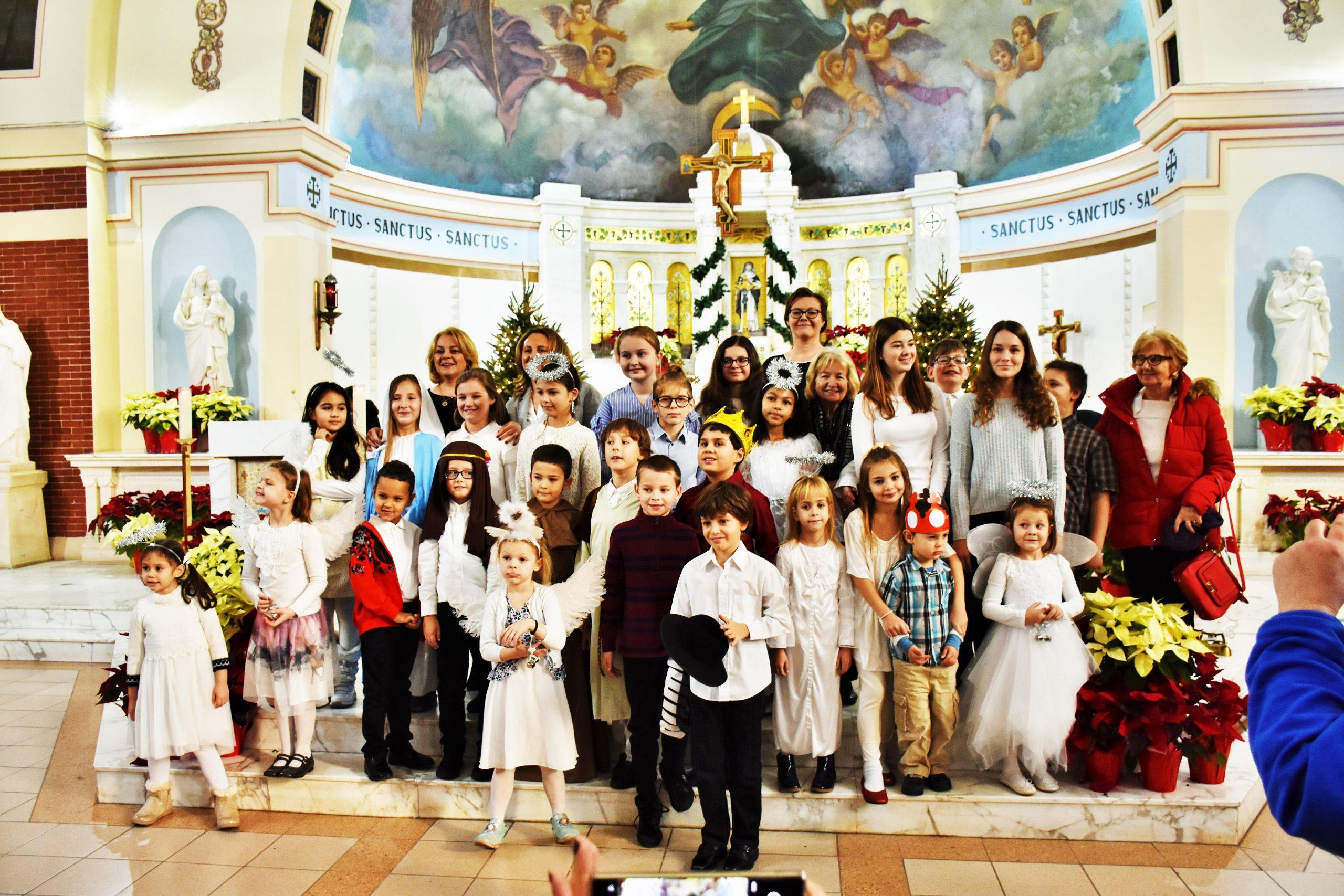 Uboga szopka – Narodziny Króla. Jesełka 2020 w  kościele Świętej Róży z Limy na Rockaway
