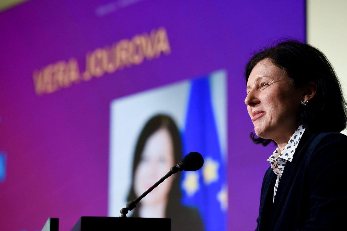 Wizyta wiceprzewodniczącej Komisji Europejskiej Very Jourovej. Nie zgodziła się na spotkanie z przedstawicielami Krajowej Rady Sądownictwa