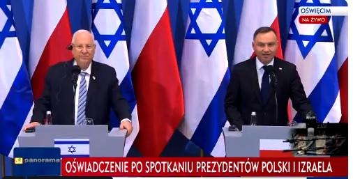 Prezydent Izraela zaprosił Andrzeja Dudę do Jerozolimy